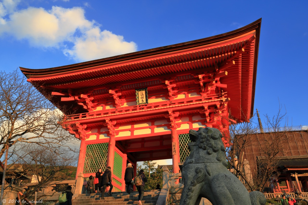 The most visited buddhist temple in Kyoto