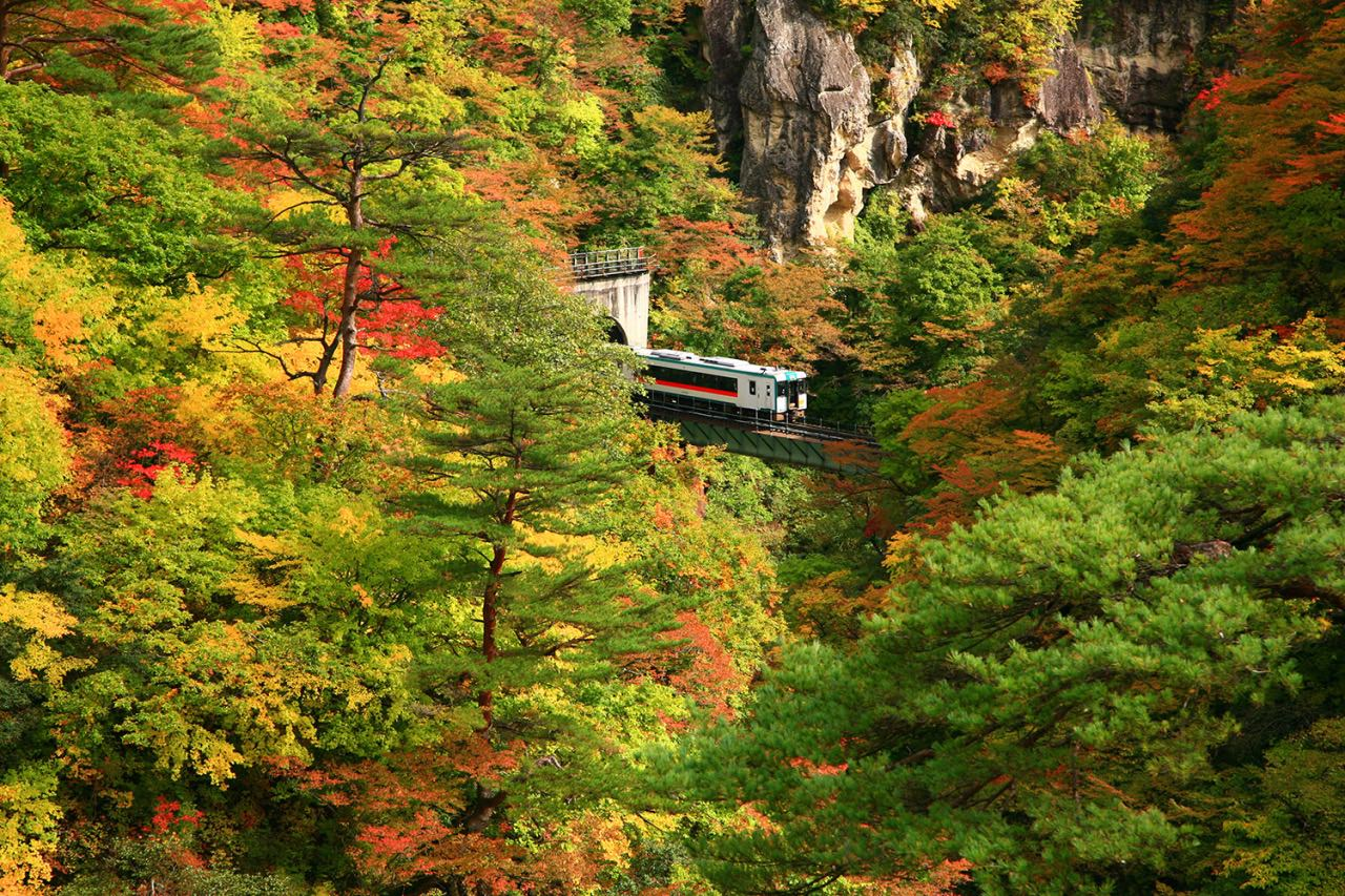 Naruko Gorge is one of the Tohoku region's most popular autumn color spots.