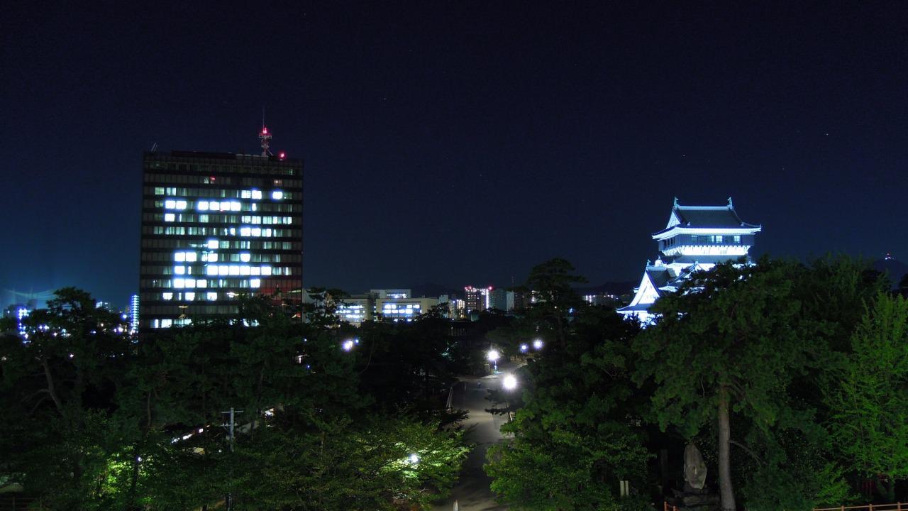 夜小倉城之美