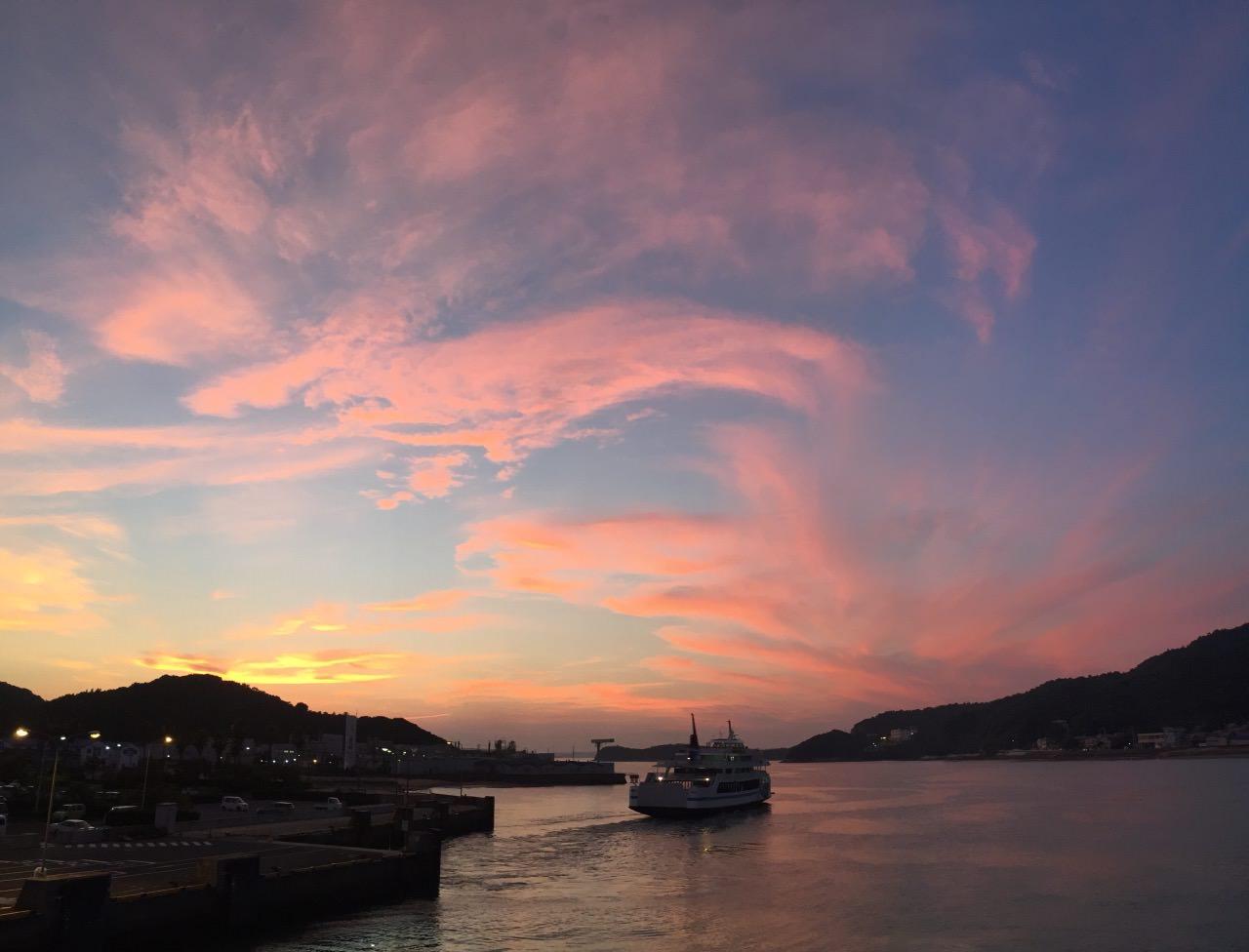 小豆島土庄港夕陽,真系夕陽無限好,只是近黃昏