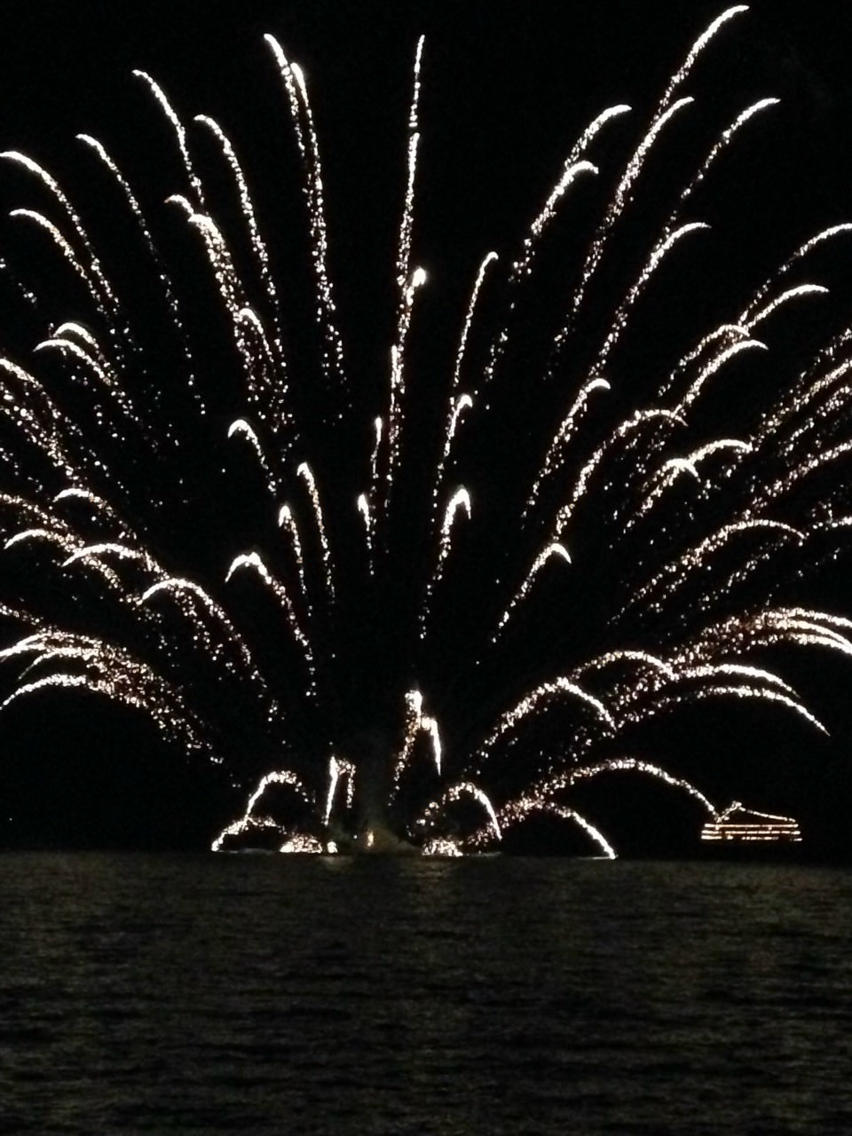 Stunning fireworks at Lake Toya during the summer season.Simply awesome!