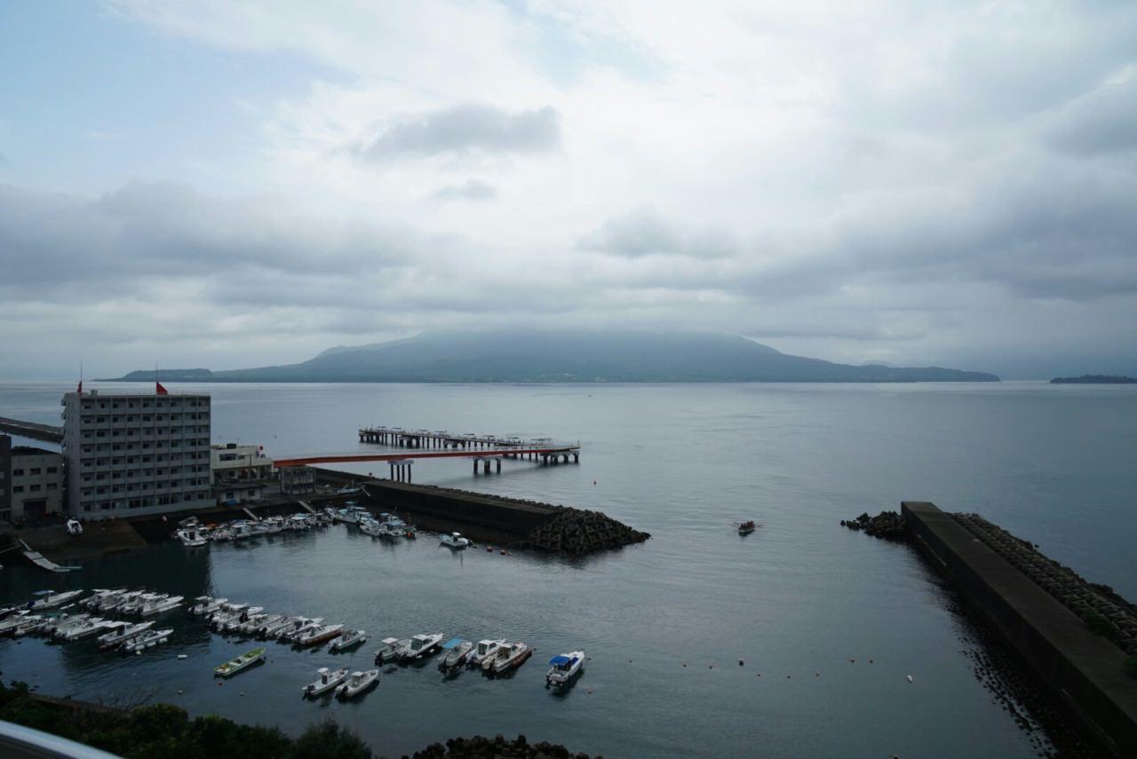 Sakurajima pier ferry boat