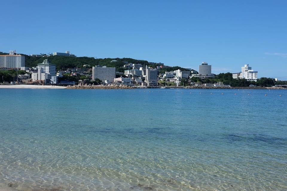 A nice beach in Shirahama