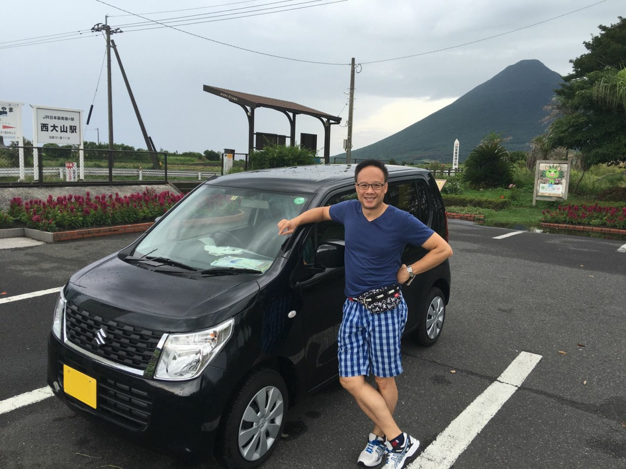 Rent a small car in Kagoshima is very convenient to go special place, such this Southest JR station
