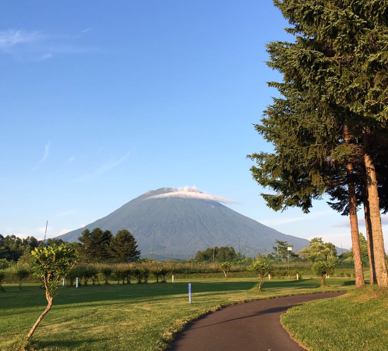 A captivating view for those who enjoy nature. Don't miss this spot while you're driving in Niseko!