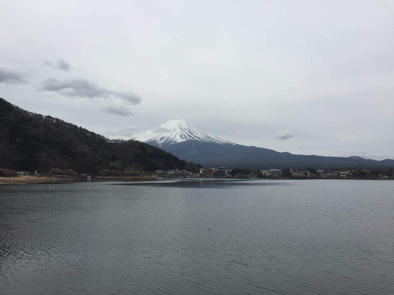 Perfect view of Mt Fuji and the lake!