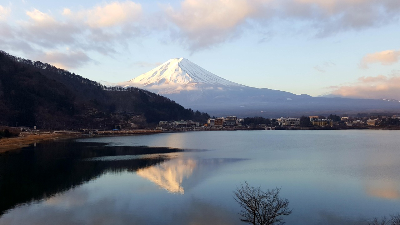 Clear view of Mt Fuji