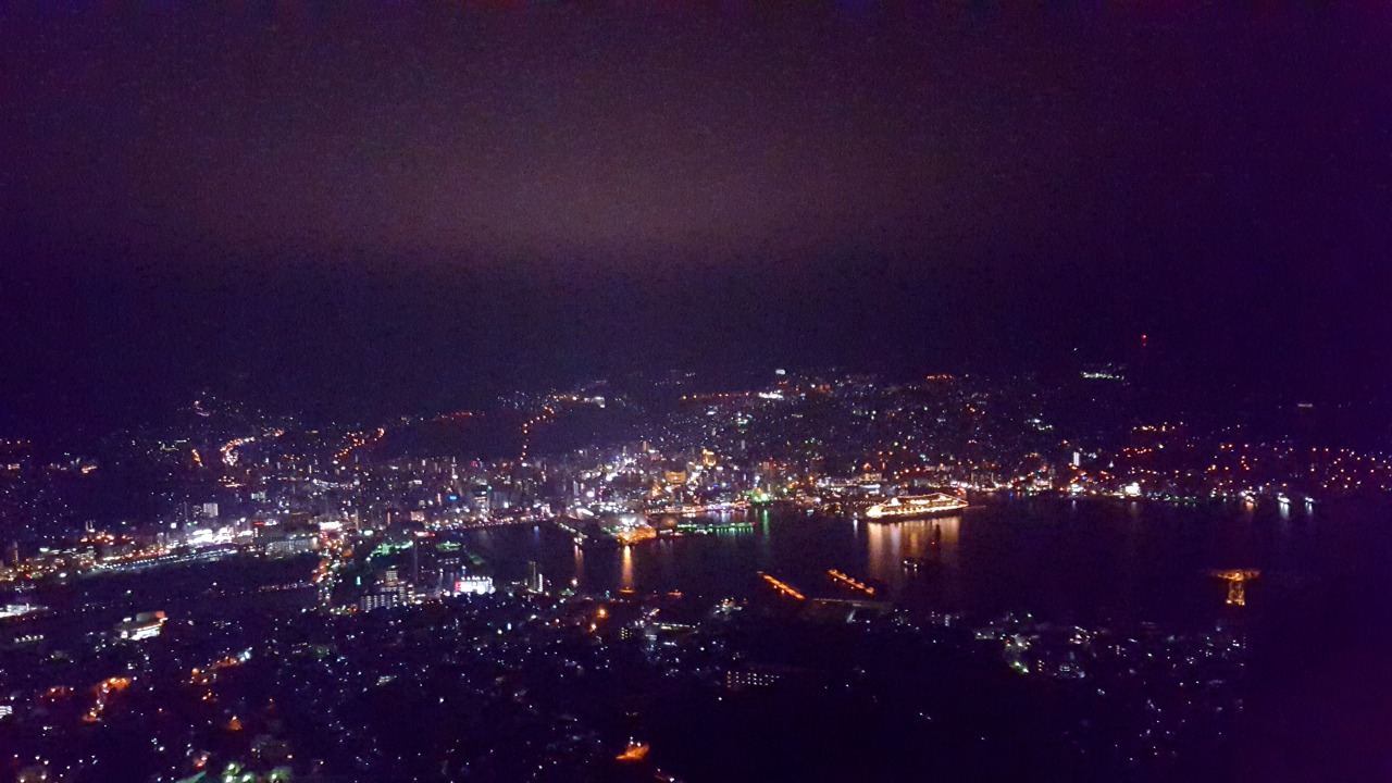 We drove to the top of Mt Inasa for this stunning night time view of Nagasaki!
