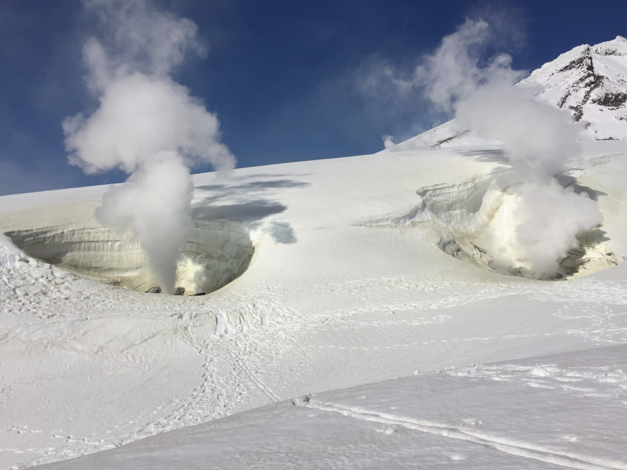 Geothermal vents at the top of Asahidake, inside Daisetsuzan National Park