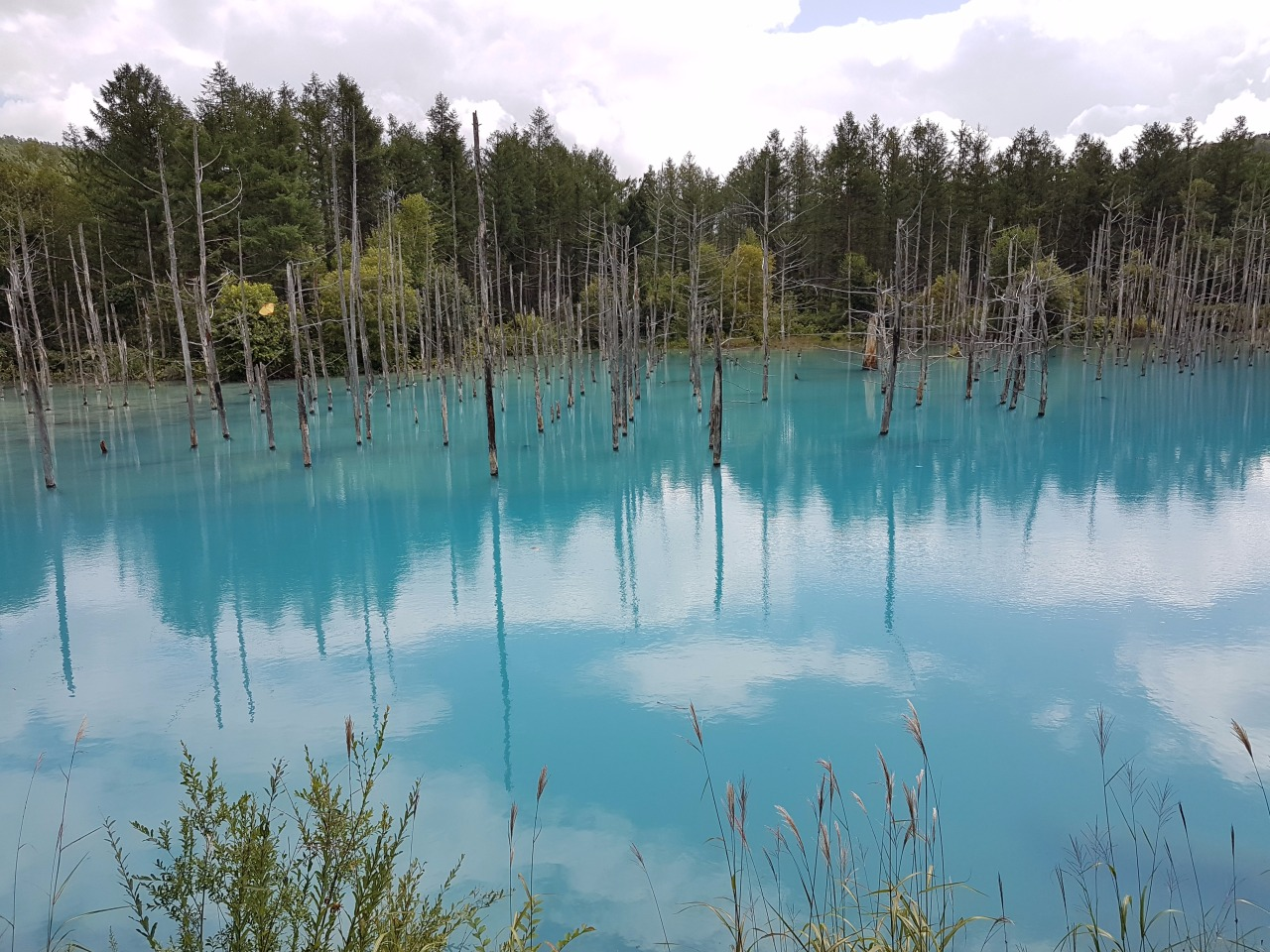 A must visit spot in Biei…blue pond
