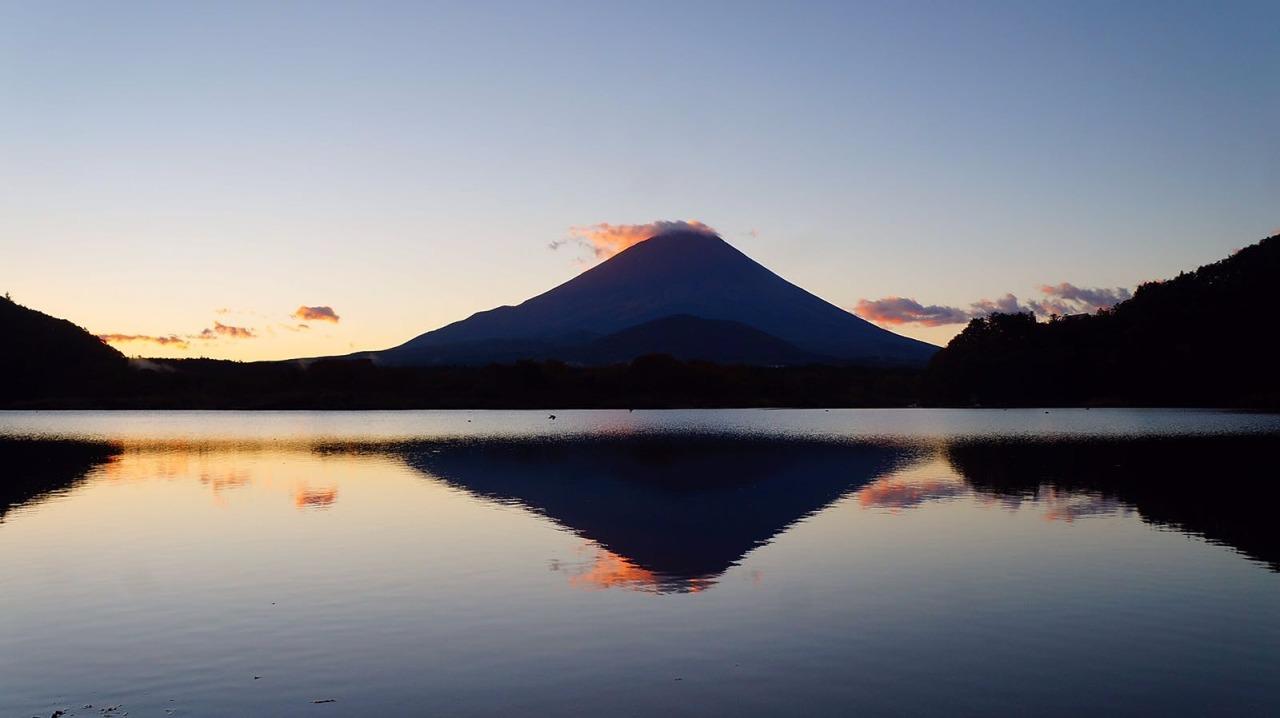精進湖的逆富士