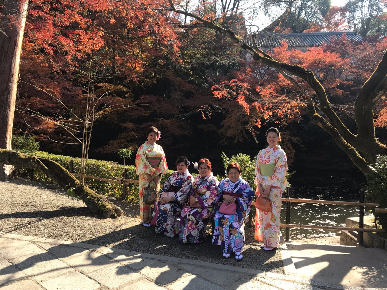 3 old + 2 younger first Kimono experience