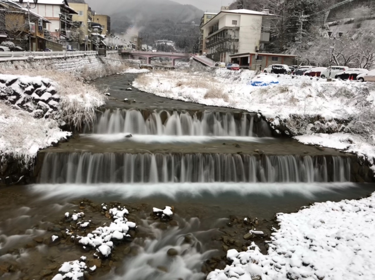 Very nice snow scenery during winter at Nagano
