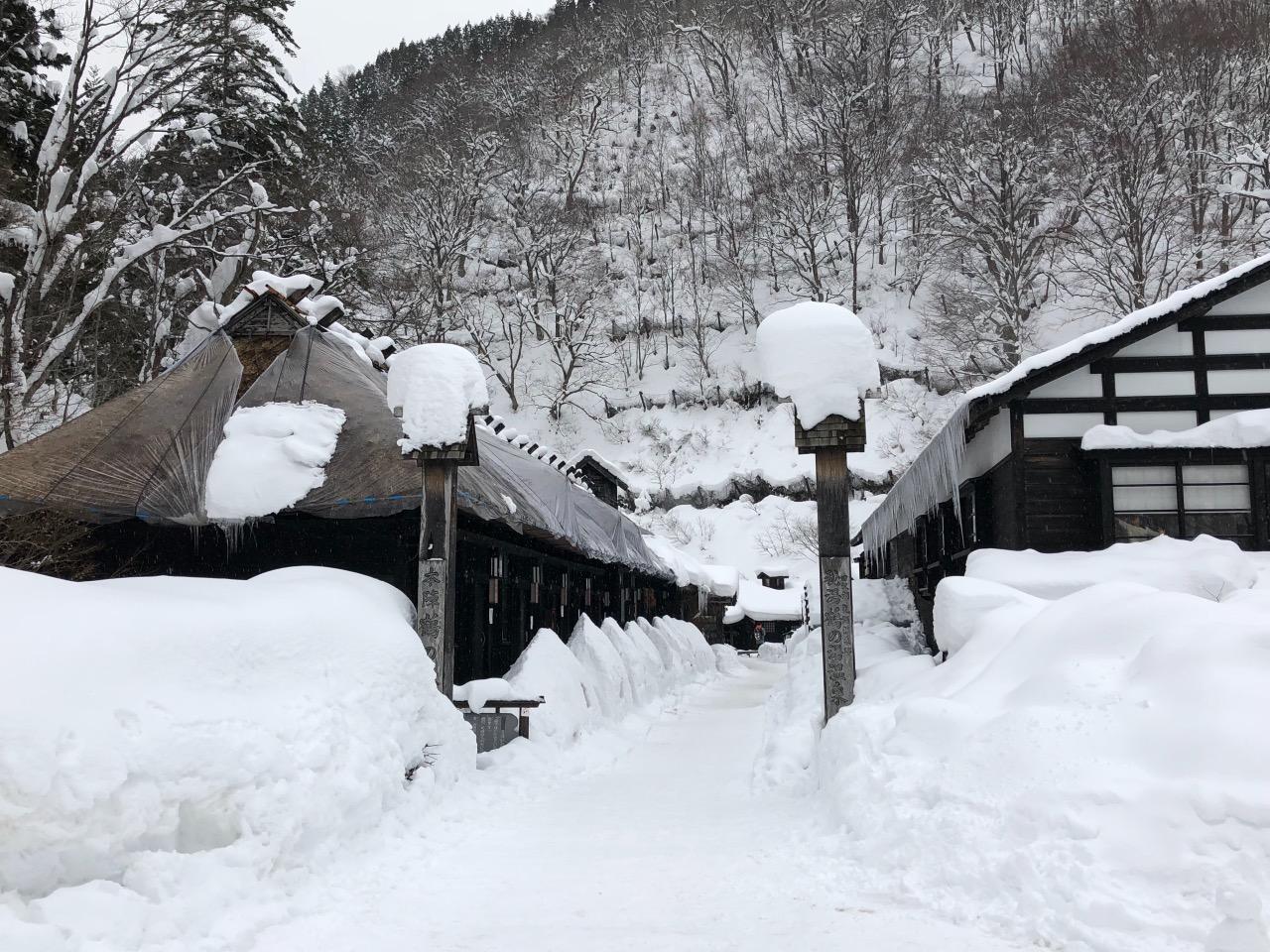 雪景下之秘湯,溫暖又帶點神秘!