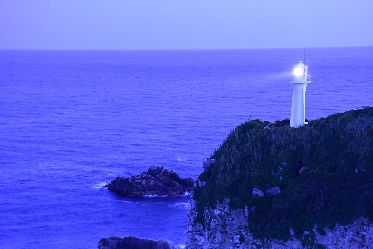 由下午到黃昏到晚上,足摺岬是四國最南的地方,一直看到天空慢慢的變化,別有一番風味。