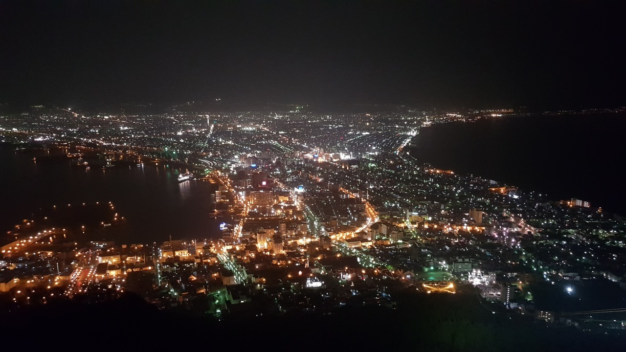 Magnificent view and good experience from mount hakodate.