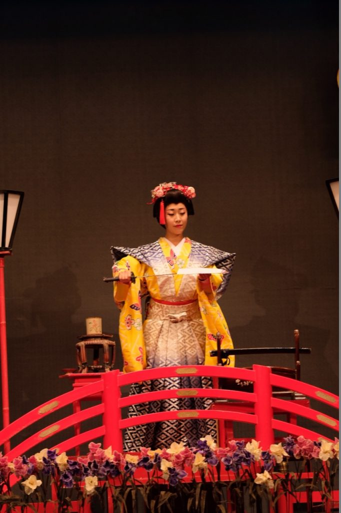 The lady at the water trick show in Edo Wonderland. My kids enjoyed it so much!
