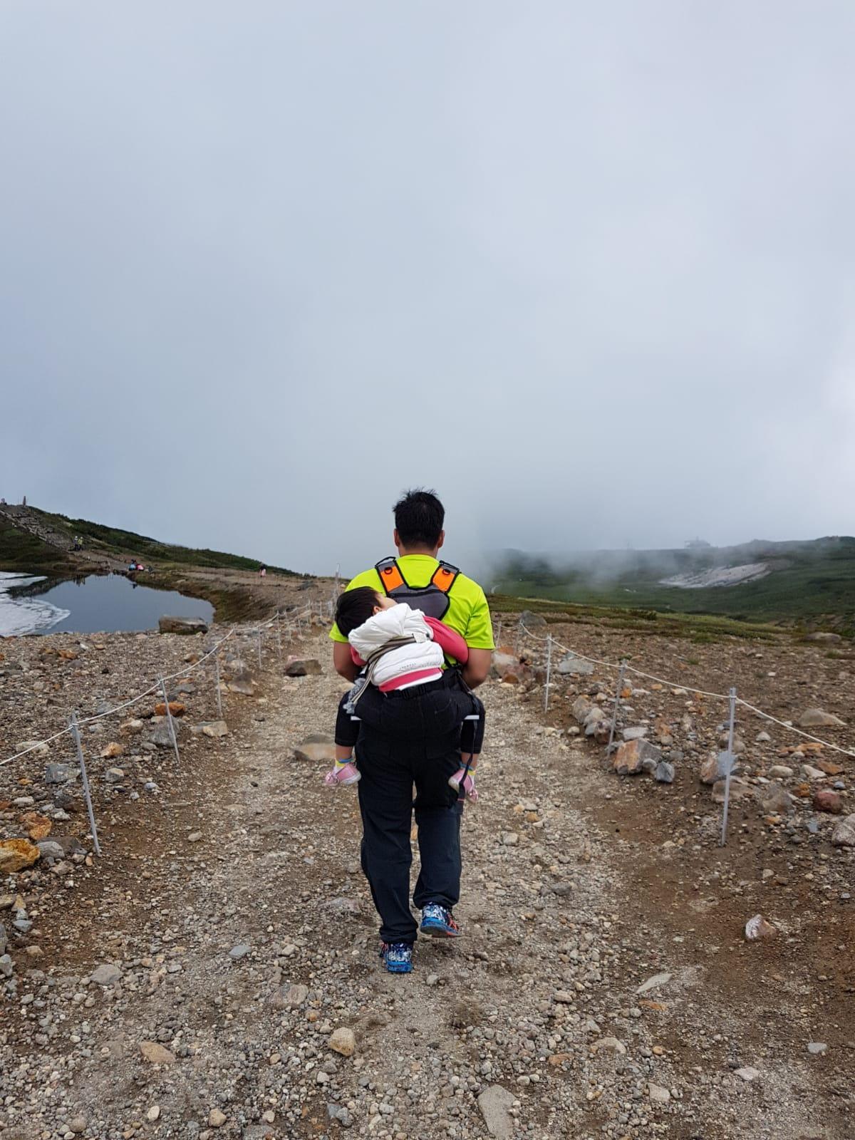Trekking up beautiful Mt Asahidake